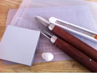 消しゴムはんこ講座第二回 はんこを彫る編