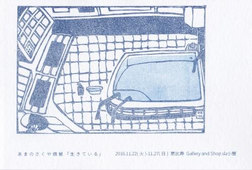 【WS情報追記】11月22-27日 あまのさくや 個展「生きている」@恵比寿  山小屋